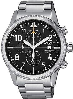 VAGARY Cronografo uomo acciaio quadrante nero VA1-111-51
