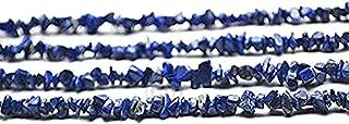 Single Starnd Natural Denim Lapis Chip Beads, 34 Inch Full Strand, Wholesale Price (CHLP-70001)