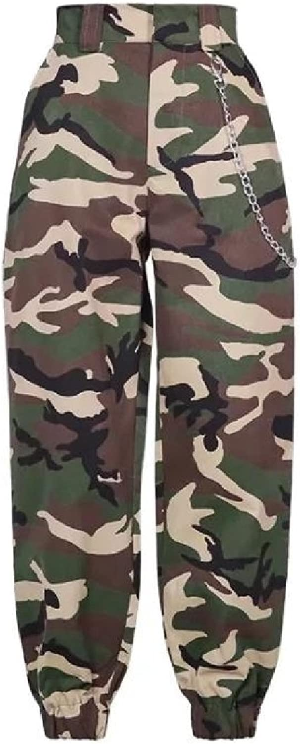 GodeyesWomen Godeyes Women Camouflage Cozy HiWaist Fit Outdoor Trousers Athletic Pants