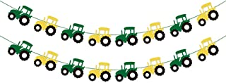 Tractor Garland Banner for Tractor/Farm / John Deere Themed Birthday Party Supplies Decorations