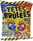 Tetes Brulees Paint Billes Extra Saure Bonbons Challenge Tüte mit gefüllten Erdbeerbonbons zum färben der Zunge
