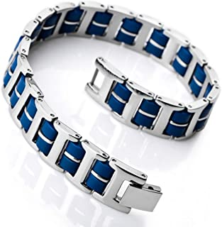 Best mens rubber and stainless steel bracelets Reviews