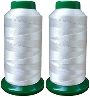 Polyester Thread Heavy Duty Bonded UV Resistant High Strength Outdoor Thread #69 T70 Size 210D/3Ply for Upholstery, Outdoo...