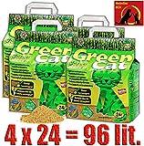 Green Cat Katzenstreu Klumpstreu 4X 24L (96L)