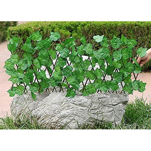 Seto Artificial Gardentrellis, Flor De Seda Extensible Retráctil/Decoración De Valla De Hojas, Pantalla De Sombra De Privacidad para Balcones, Jardín, Patio,C,M