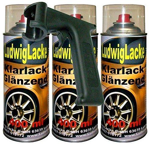 Ludwig Lacke Klarlack glänzend Spraydose 3 x 400ml Plus Haltegriff