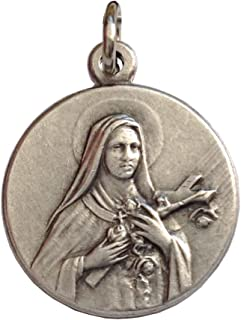 Saint Therese of Lisieux (Jesus Child and of the Holy Face) Silver Medal - The Patron Saints Medals