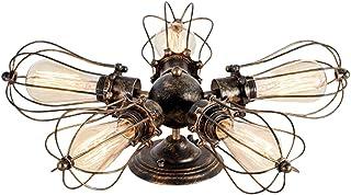 Huahan Haituo Industrialny Edison Retro Vintage lampa ścienna z 1/2/3/4/5 żarówkami w stylu retro rustykalna ściana świetl...