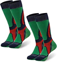 Merino Wool Socks, ZEALWOOD Unisex Hiking Trekking Crew Socks Thermal Warm Winter Socks,1/2/3/4 Pairs