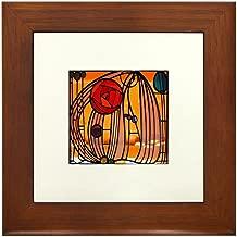 CafePress Charles Rennie Mackintosh Stained Glass Framed Til Framed Tile, Decorative Tile Wall Hanging