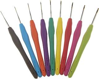 9couleurs crochet Aluminium Multicolore Épaisseur Aluminium tricot aiguille Crochet Kit 0,5mm de 2,5mm