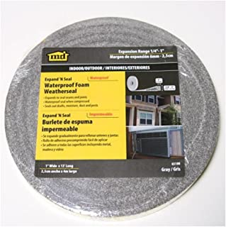 M-D Building Products 03100 13-Feet Long Expand -Feet Seal Compressible Waterproof Foam Tape, Gray