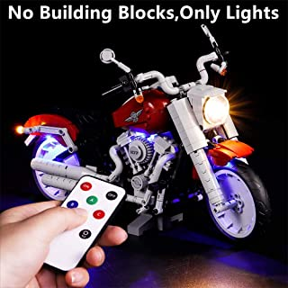 Vonado Led Lighting Kit for Lego 10269 Harley-Davidson Creative Variety Series Harley Motorcycle Lighting Group Building Blocks Bricks Toys Gift to Friends Adult Boys and Girls Festival(Only Lights)