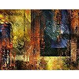 Fototapete Abstrakt Ornament 396 x 280 cm - Vlies Wand Tapete Wohnzimmer Schlafzimmer Büro Flur Dekoration Wandbilder XXL Moderne Wanddeko - 100% MADE IN GERMANY - 9399012a