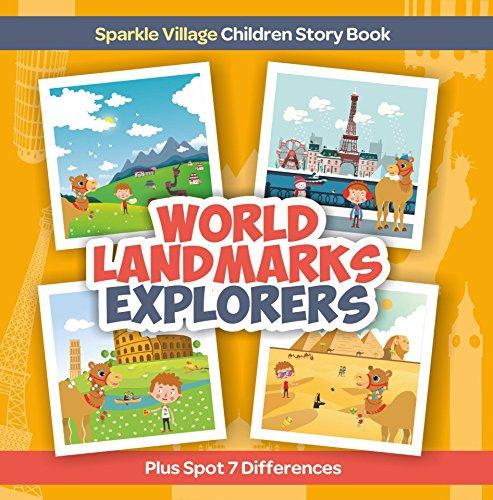 World Landmarks Explorers plus Spot 7 Differences (Sparkle Village, Children Story Book Book 1) (English Edition)