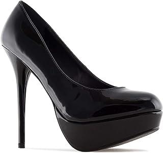 Andres Machado - Chaussures Plateforme pour Femme/Adolescent Vernis et Simili Cuir - AM453 - Talons Aiguille 14 cm - Plate...