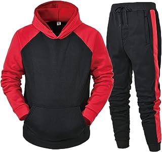 UJUNAOR Men's Hooded Sweatshirt, 3D Universe Print Hooded Galaxy Hoodie Tops Pants Sets Sport Suit Tracksuit