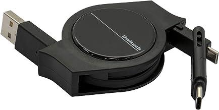 オウルテック 超タフ 巻取り microUSBケーブル Type-C (USB-C)変換付き QC3.0対応 充電 データ転送 android スマホ 2年保証 120cm ブラック OWL-CBRKMC12-BK