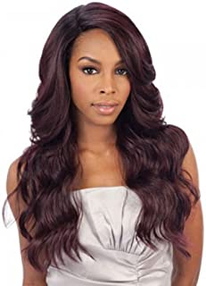 Freetress Equal Brazilian Natural Deep Invisible L Part Lace Front Wig DANITY (1)
