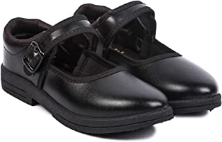 VLD Girls Kids Size Ballerinas Buckle Black Shoes