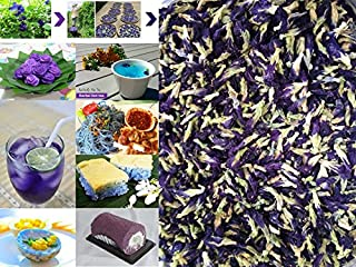 1000 grams (1 kg.) Organic Dried butterfly pea flower Clitoria ternatea Herbs Herbal healthy tea drink recipes food colori...