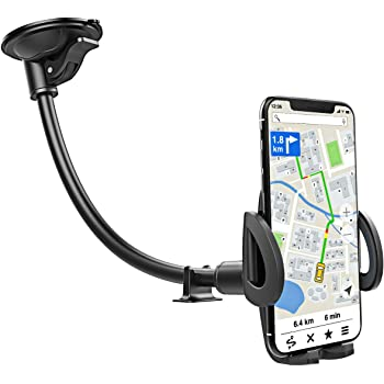One-Hand-Operation Clamp with 360-degrees Rotatable Head for iPhone 11//11 Pro//XR//Xs Max//X//8//7 Windshield Phone Mount with Suction Cup LG Mpow 073 Car Phone Holder Sony Google Galaxy S10//S9//S8