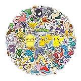 DIWSO Sticker Pack (160 Stück) Pokemon-Aufkleber für Hydro Flask, wasserdichte Vinyl-Aufkleber für Laptop, Skateboard, Wasserflaschen, Computer, Telefon, süße Anime-Aufkleber (Pokemon)