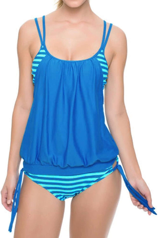 SSYUNO Sexy Swimsuits for Women Splicing Genuine Striped Se [Alternative dealer] Womens Strap