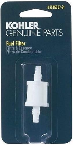 lowest KOHLER 25 050 07-S1 Engine Fuel Filter 2021 75 Micron lowest With 3/16-Inch & 1/4-Inch Fuel Line Inside Diameter sale