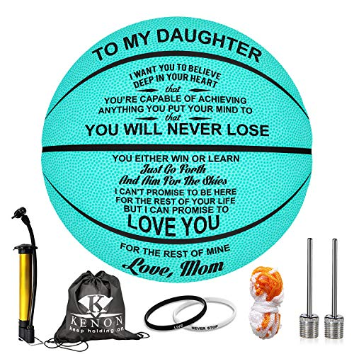 Best Buy! K KENON Customized Engraved Basketball Personalized Basketball for Daughter Son Granddaugh...