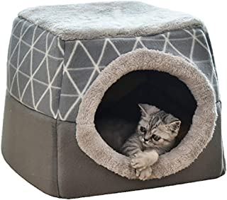 YunNasi Casas para Gato Cueva para Animales Casa de Gato Cam