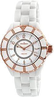 Swiss Ladies White Rose Gold Ceramic Watch PS4893WT