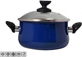 Desconocido Magefesa 2454140031 - Olla con Tapa de Acero esmaltado Mod danubio 24 cm Azul