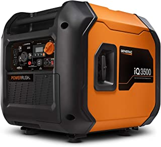 Generac 7127 iQ3500-3500 Watt Portable Inverter Generator Quieter Than Honda, Orange/Black