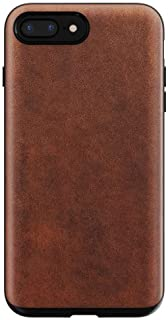 Nomad iPhone 8/7 Plus Rugged Horween Leather Phone Case - 10ft. Drop Protection, Raised Edges, Horween Leather - Rustic Brown