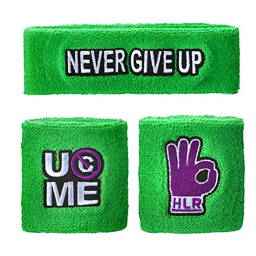 WWE Authentic Wear John Cena Cenation Respect Sweatband Set Multi