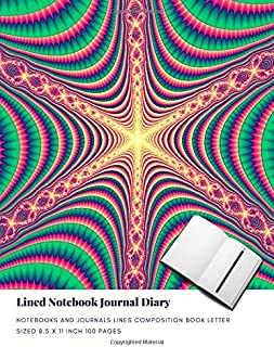 Lined Notebook Journal Diary: Notebooks And Journals Lines Composition Book Letter sized 8.5 x 11 Inch 100 Pages (Volume 98)