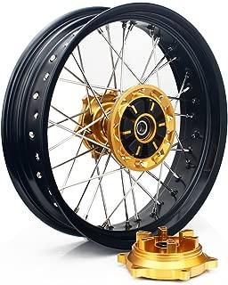 TARAZON 17 Rear Supermoto Wheel Rim for Suzuki DRZ400SM 2005-2016 DRZ400S DRZ400E 2000-2017 Complete Wheel