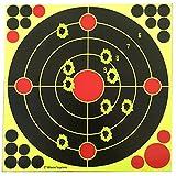 [page_title]-Target House selbstklebende, reaktive Zielscheiben für Pistole, Gewehr, Luft-, Airsoft- und Gasdruckgewehr, 30x30cm, 30 pcs