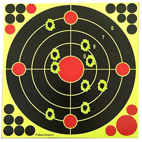 Target House selbstklebende, reaktive Zielscheiben für Pistole, Gewehr, Luft-, Airsoft- und Gasdruckgewehr, 30x30cm, 30 pcs