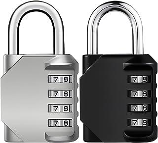 KeeKit Combination Lock, 4 Digit Combination Padlock, Waterproof Gate Lock, Resettable Combo Lock for Locker, Gym, Cases, ...