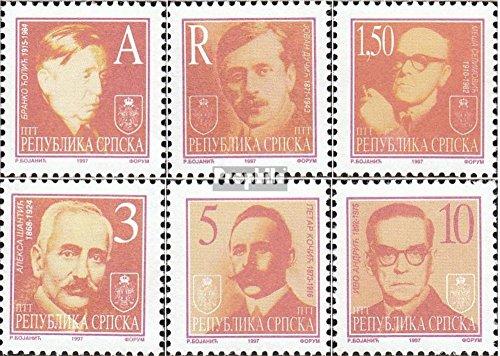 Prophila Collection Serbische Republik Bos.-H 60-65 (kompl.Ausg.) 1997 Freimarken: Schriftsteller (Briefmarken für Sammler)