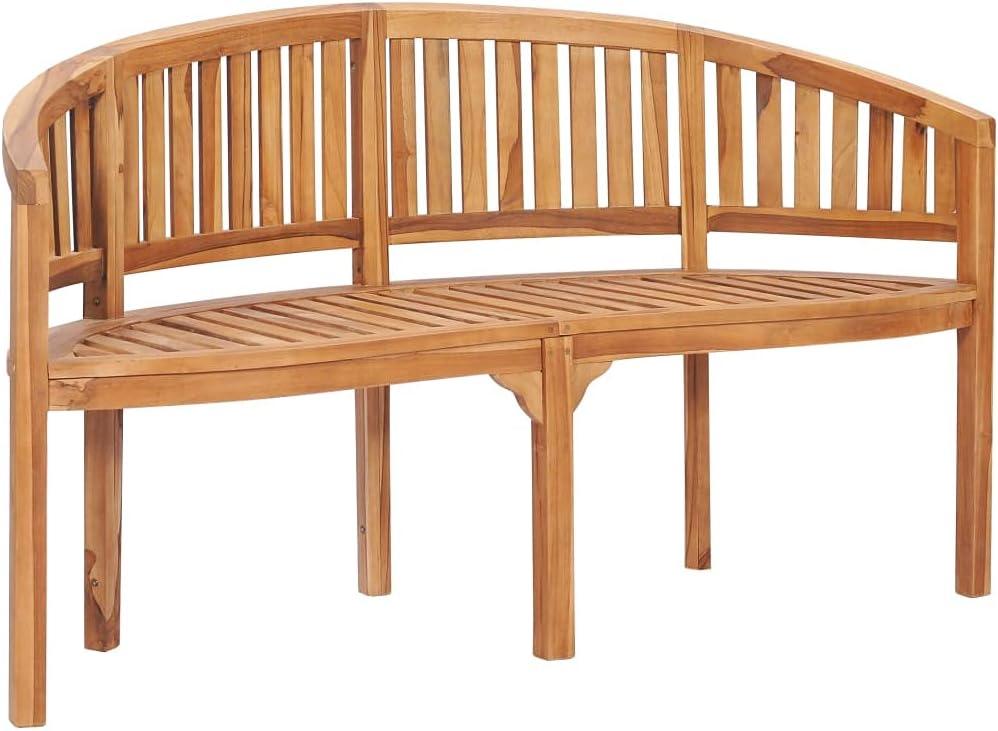 Free Shipping New Bargain WELLIKEA Banana Bench 59.4 Teak Wood