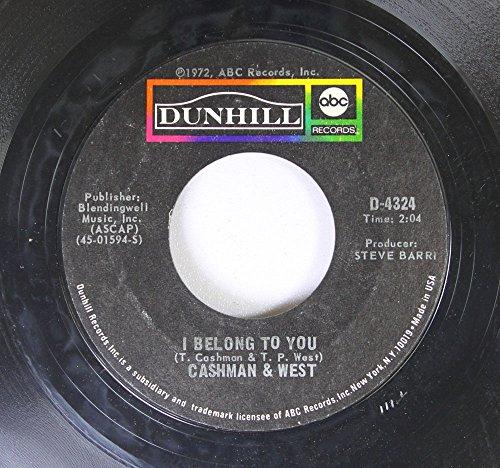 Cashmen & West 45 RPM I Belong To You / American City Suite