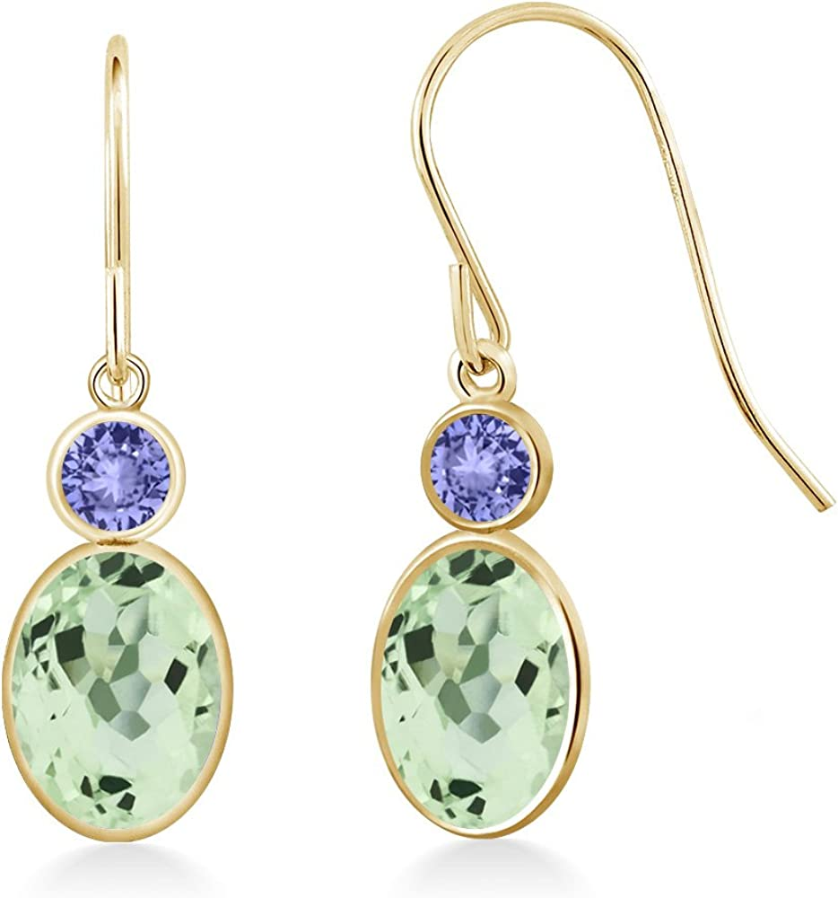 Gem Stone King 2.24 Ct Oval Green 14K Safety and trust Tanzanite Max 44% OFF Blue Prasiolite