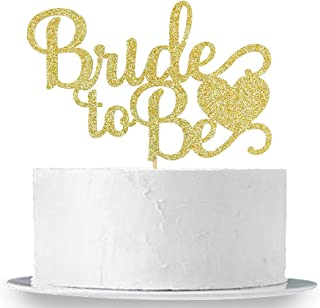 Gold Glitter Bride to Be Cake Topper - Bridal Shower Party Decorations Supplies