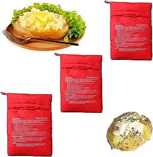 YYUU 3 Pièces Sac De Cuisson Micro Ondes, Four Micro-Ondes pour Pommes De Terre, Sac De Cuisson Tortillas, pour Pommes De ...