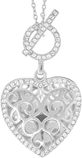 With You Lockets-Fine Sterling Silver-Custom Photo Locket Necklace-That Holds Pictures for Women-The Clara