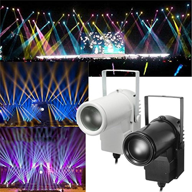 QIZIANG 5W RGBW LED Bühnenlicht Spin Effekt Pinspot Party Show Licht für Disco KTV DJ AC90-240V Hot (Farbe   schwarz) B07L27LGZJ | Die Qualität Und Die Verbraucher Zunächst