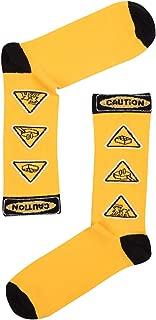 Caution Desenli Erkek Çorap